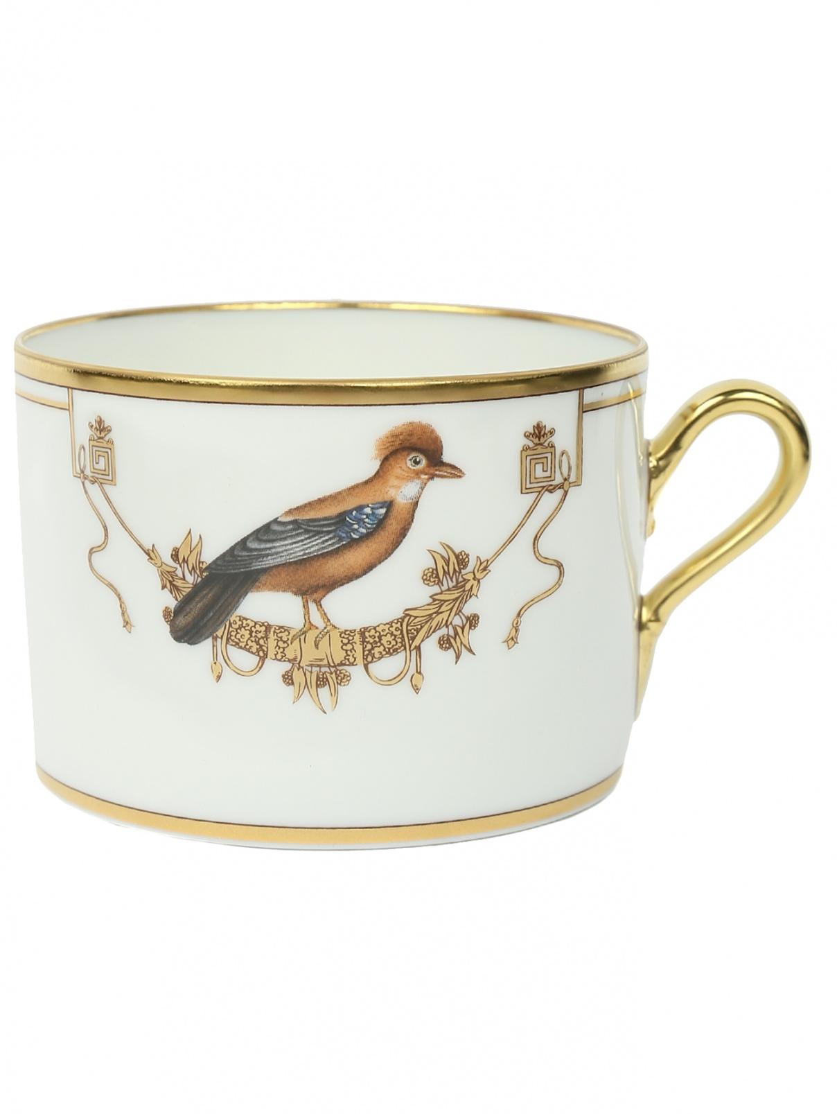 Чашка чайная с узором птицы Richard Ginori 1735  –  Общий вид
