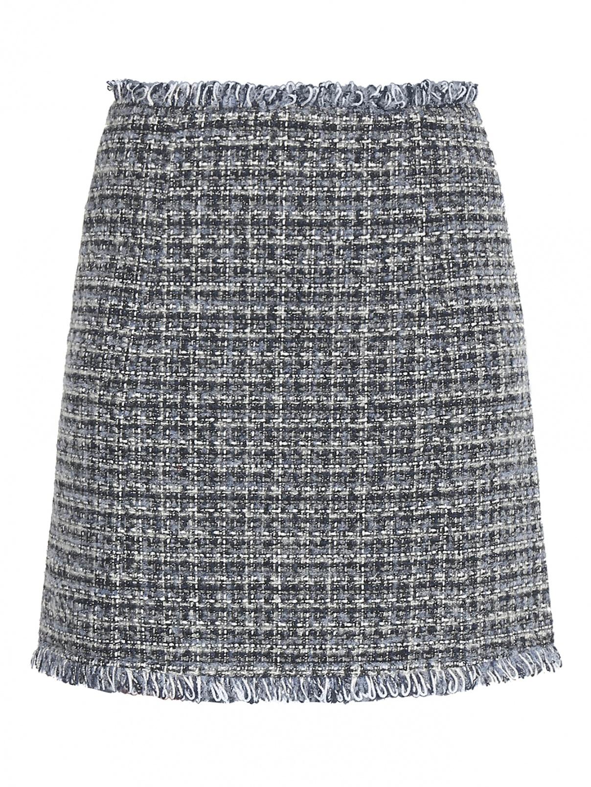 Юбка-мини из буклированной ткани Max&Co  –  Общий вид