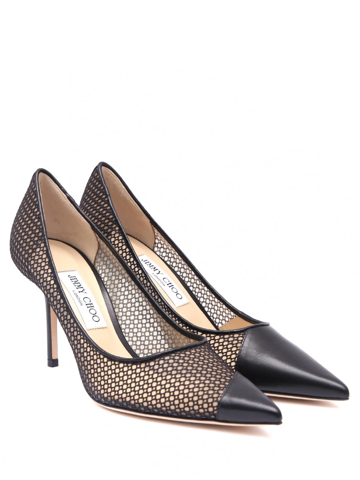 Туфли из текстиля и кожи на шпильке Jimmy Choo  –  Общий вид