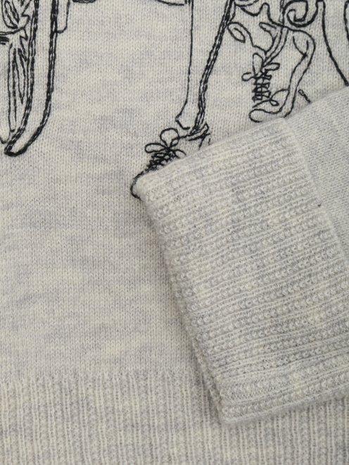 Джемпер хлопковый с вышивкой - Деталь1