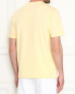 Однотонная футболка из хлопка Brooks Brothers  –  МодельВерхНиз1