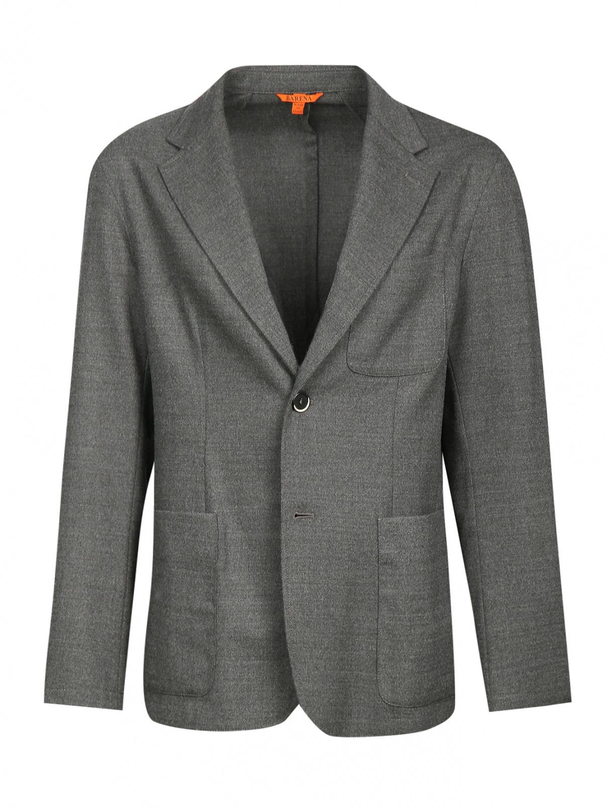 Пиджак однобортный из шерсти Barena  –  Общий вид