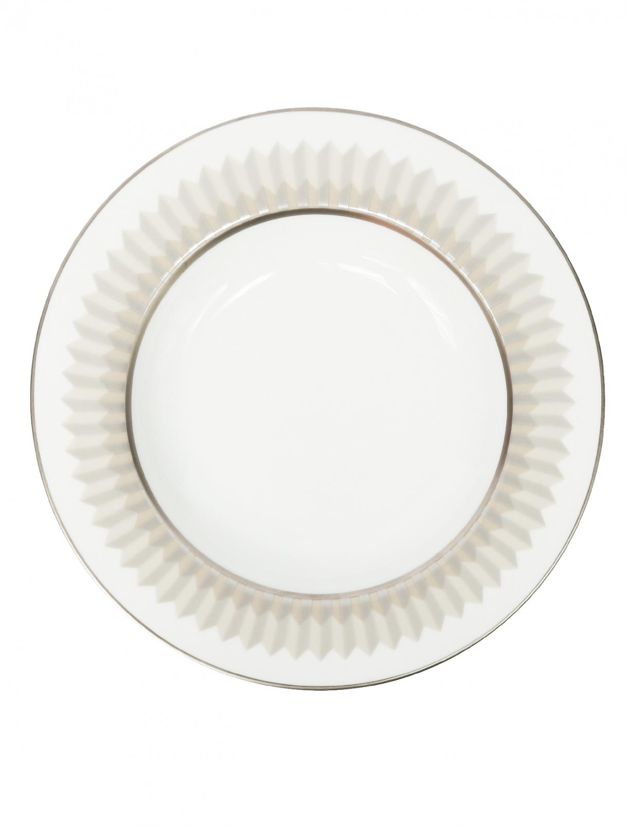 Тарелка суповая из фарфора с геометрическим узором Haviland  –  Общий вид