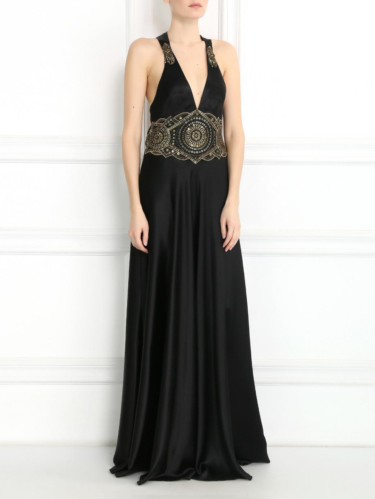 Платье из шелка декорированное бисером Jenny Packham  –  Модель Общий вид