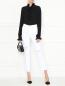 Джинсы из светлого денима с потертостями AG Jeans  –  МодельОбщийВид