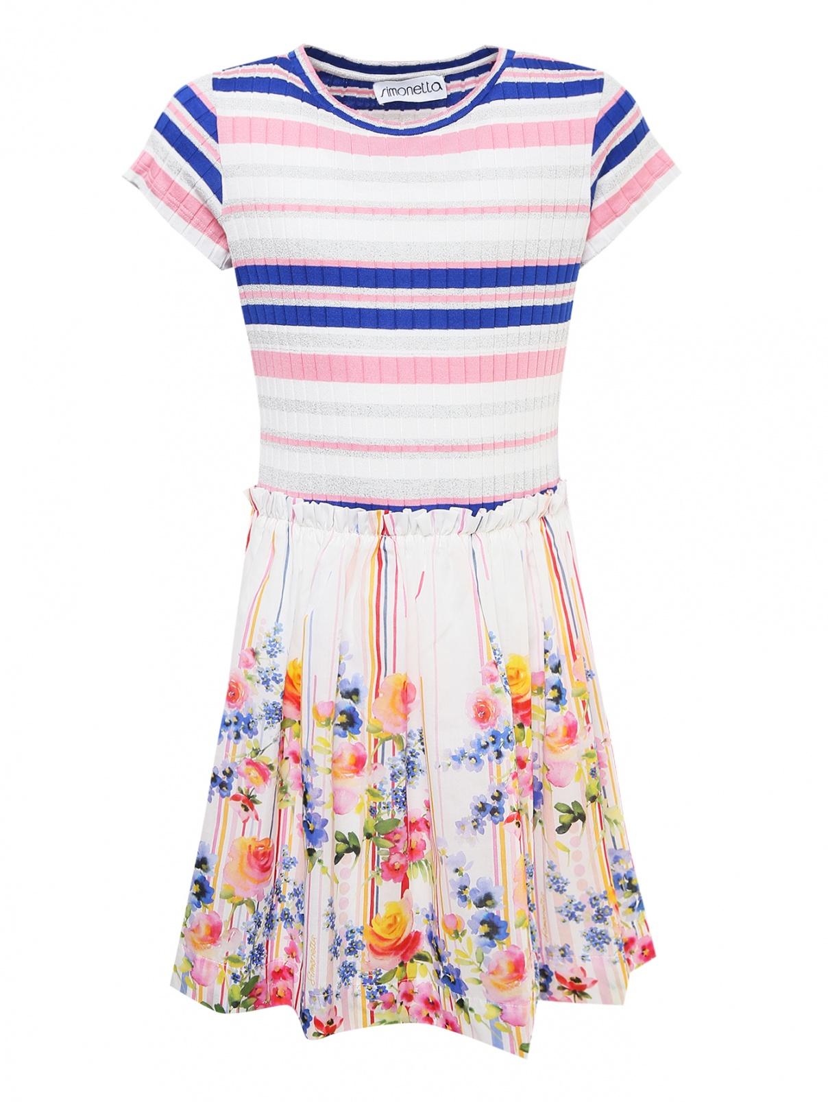 Платье трикотажное с хлопковой юбкой Simonetta  –  Общий вид