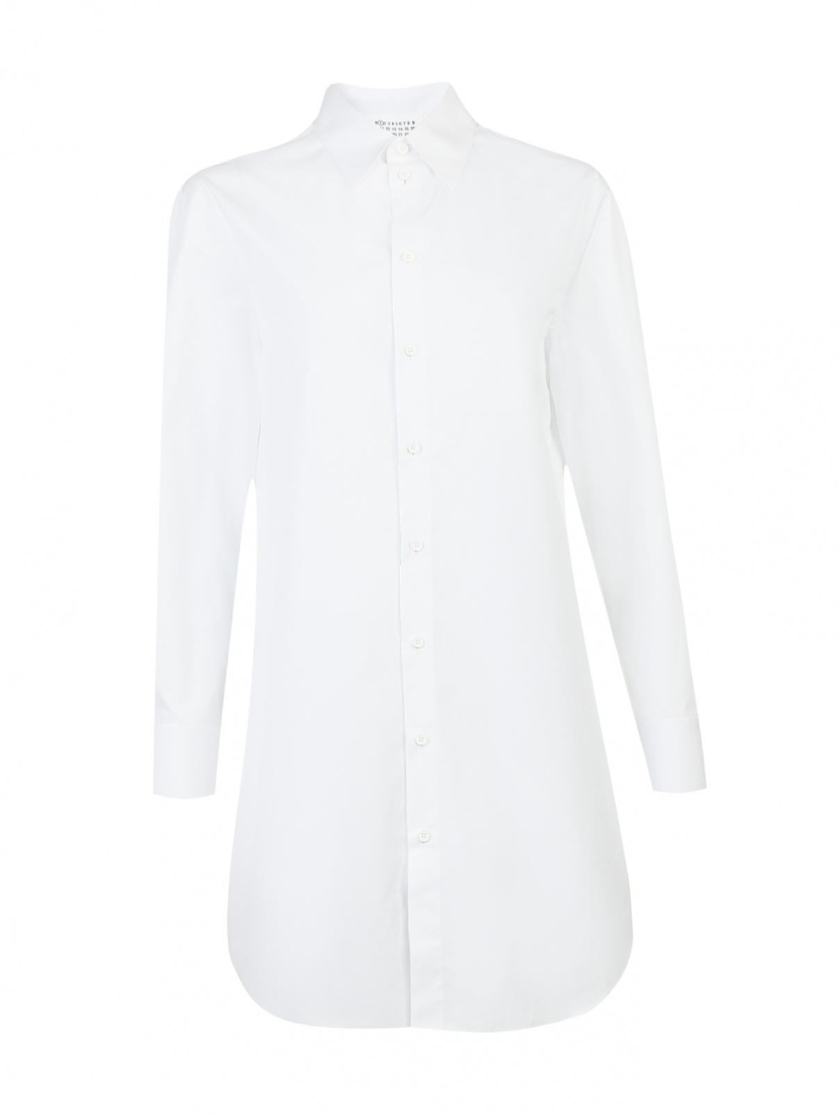 Удлиненная рубашка из хлопка свободного кроя Maison Martin Margiela  –  Общий вид