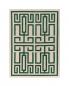 Ковер 240х170 см GIO PONTI LABIRINTO GREEN Amini Carpets  –  Общий вид