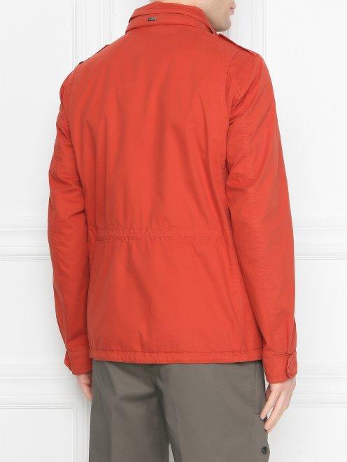 Куртка на молнии с накладными карманами  - МодельВерхНиз1