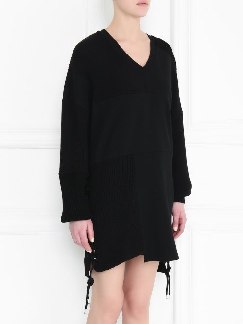 Платье из хлопка свободного кроя - МодельВерхНиз