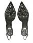 Туфли с открытой пяткой на каблуке-рюмочке с декором René Caovilla  –  Обтравка4