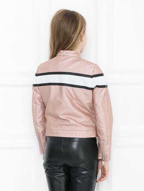 Куртка из экокожи в байкерском стиле Freedomday - МодельВерхНиз1