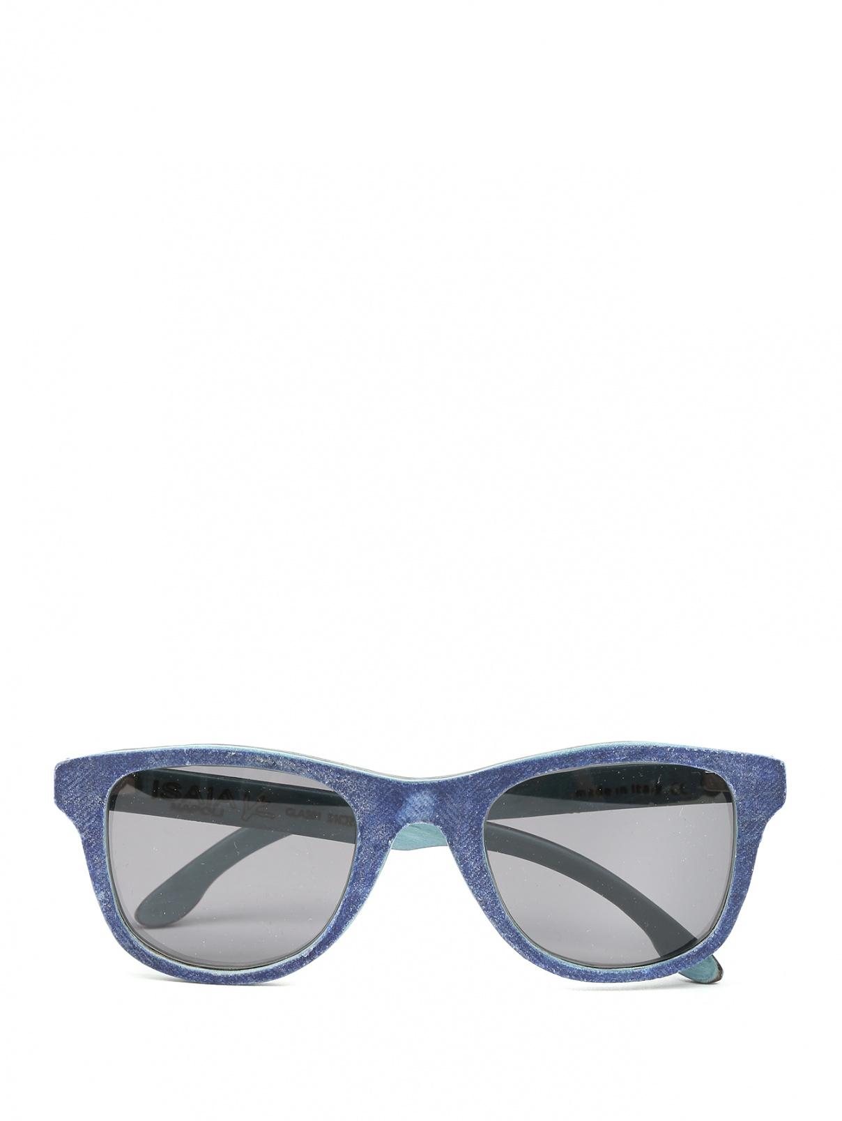Солнцезащитные очки в оправе из дерева Isaia  –  Общий вид