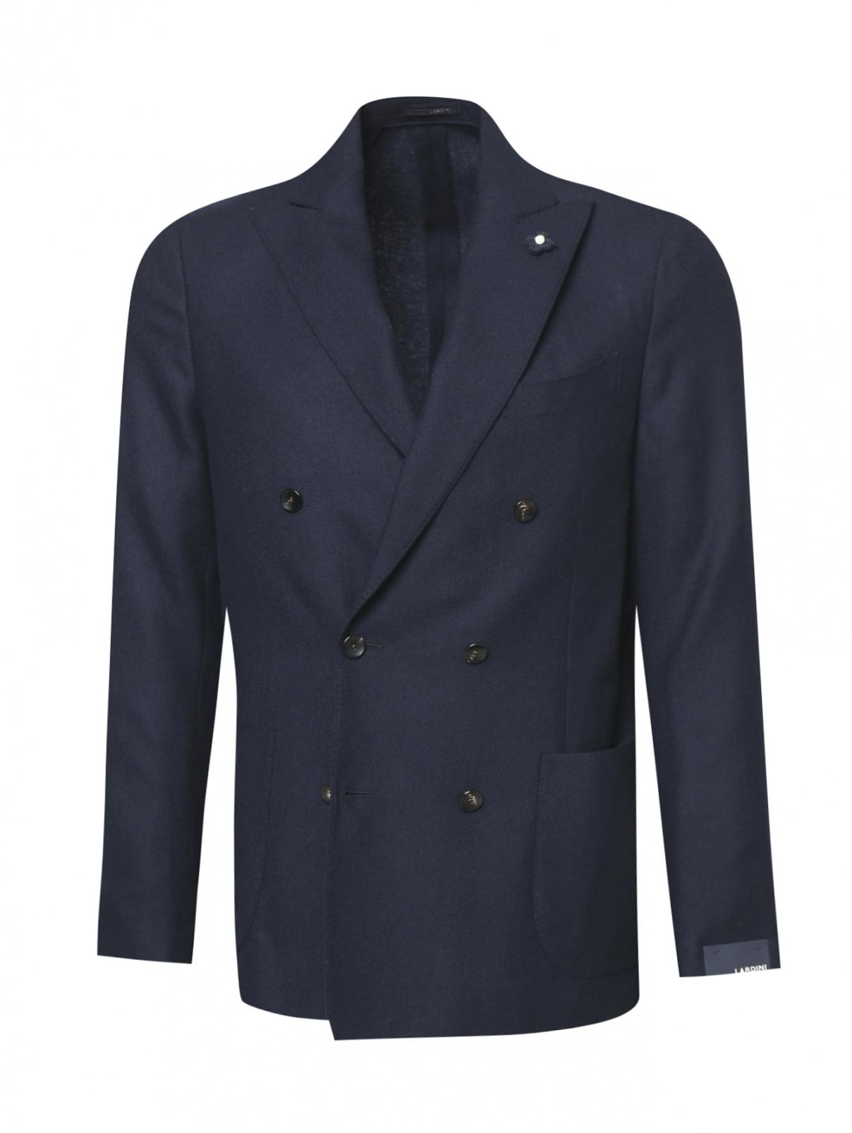 Пиджак двубортный из кашемира LARDINI  –  Общий вид