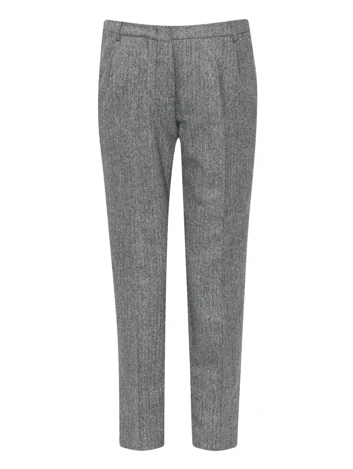 Укороченные брюки из шерсти с карманами Weekend Max Mara  –  Общий вид