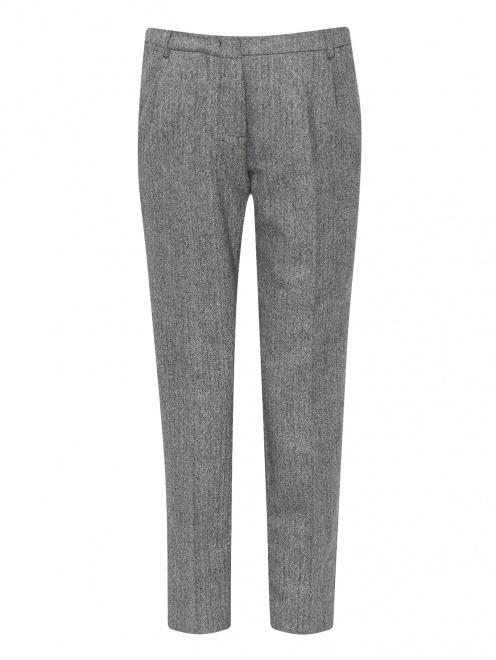 Укороченные брюки из шерсти с карманами - Общий вид