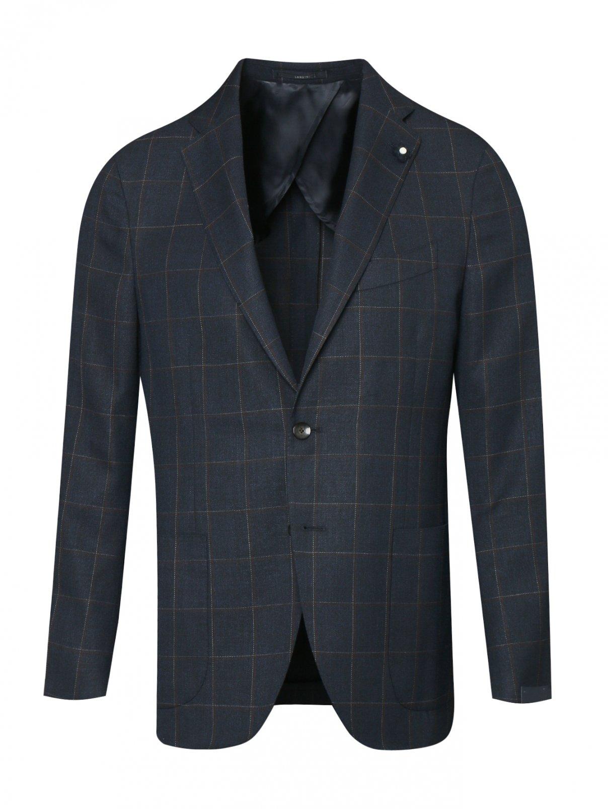 Пиджак из шерсти с узором LARDINI  –  Общий вид