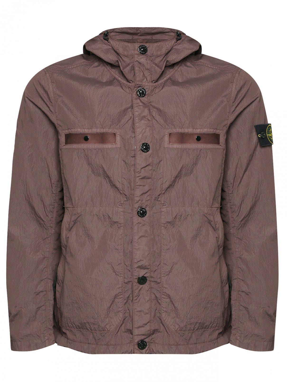 Куртка свободного кроя с капюшоном Stone Island  –  Общий вид