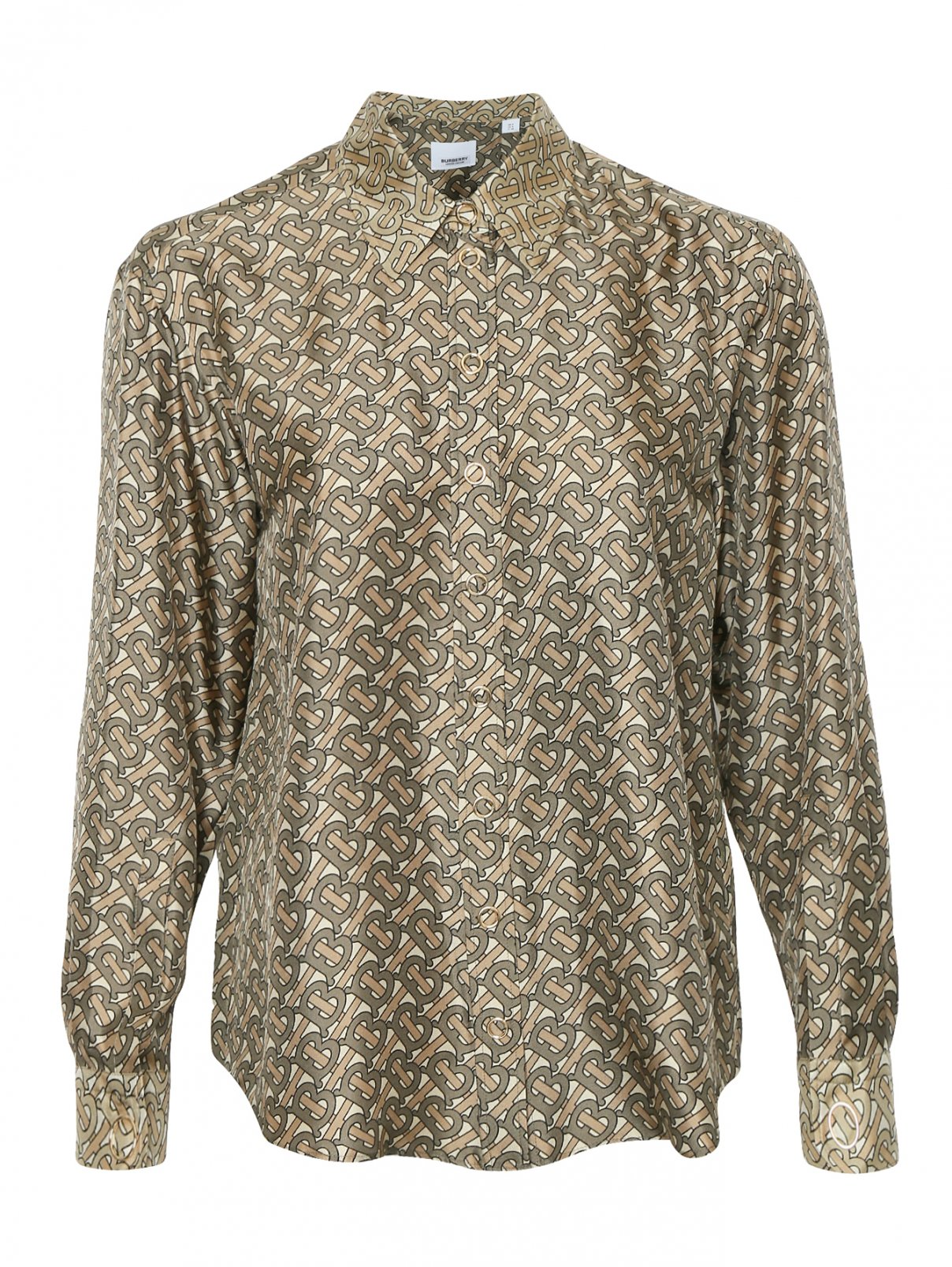 Блуза из шелка с узором Burberry  –  Общий вид
