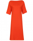 Платье-миди из смешанного хлопка свободного фасона Jil Sander  –  Общий вид