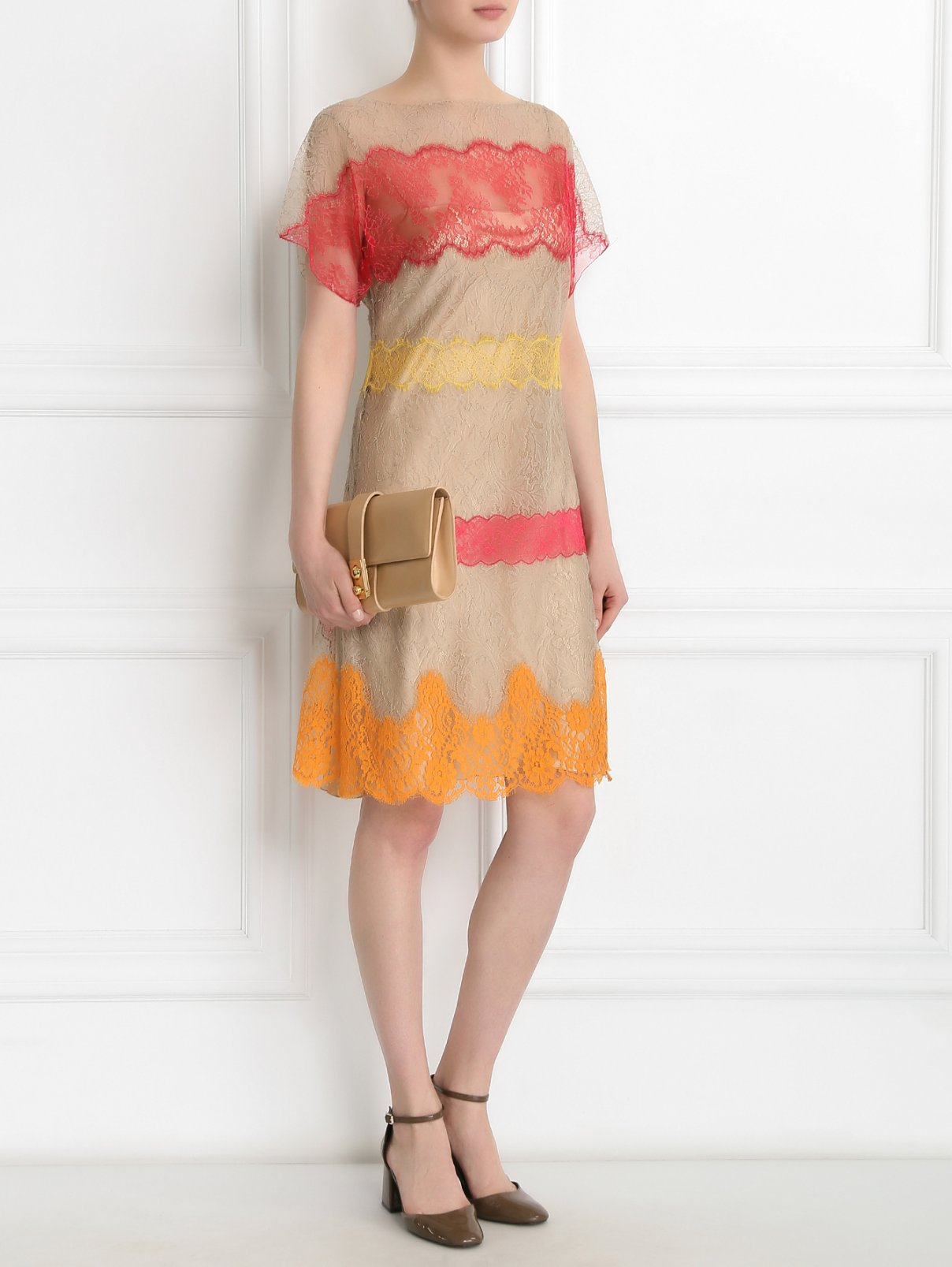 Кружевное платье Alberta Ferretti  –  Модель Общий вид