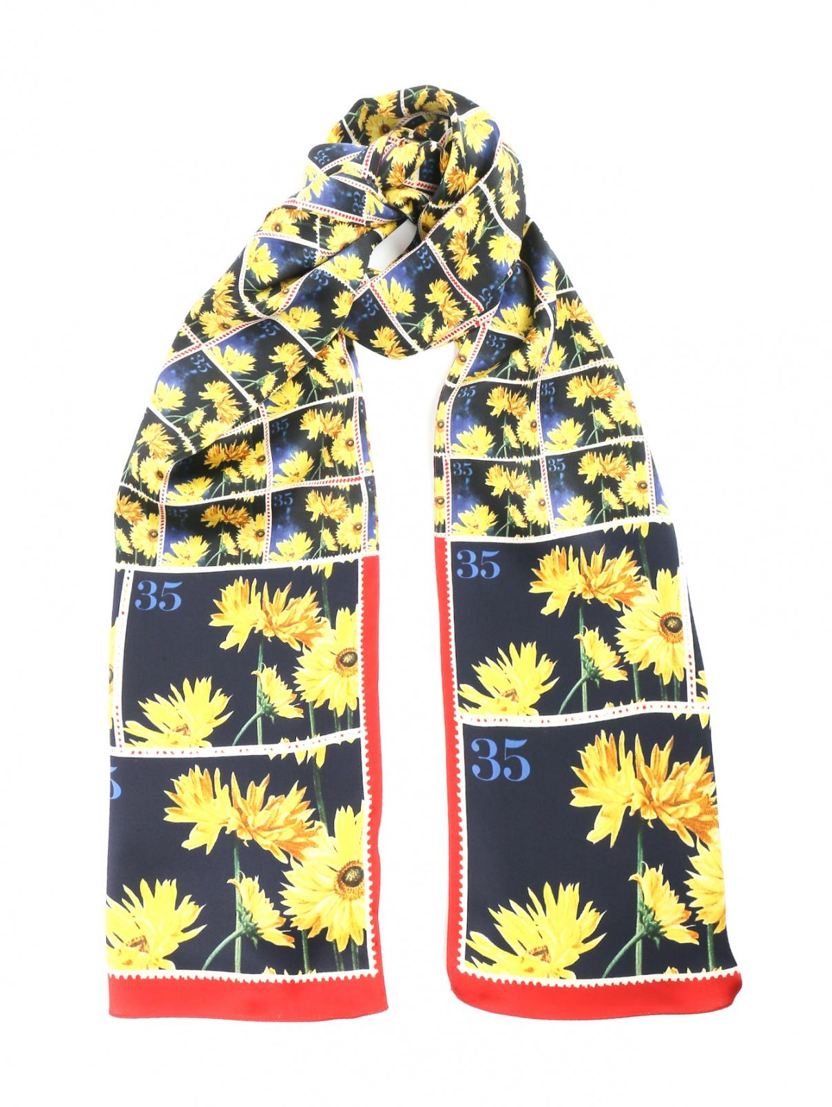 Шарф из шелка с цветочным узором Paul Smith  –  Общий вид