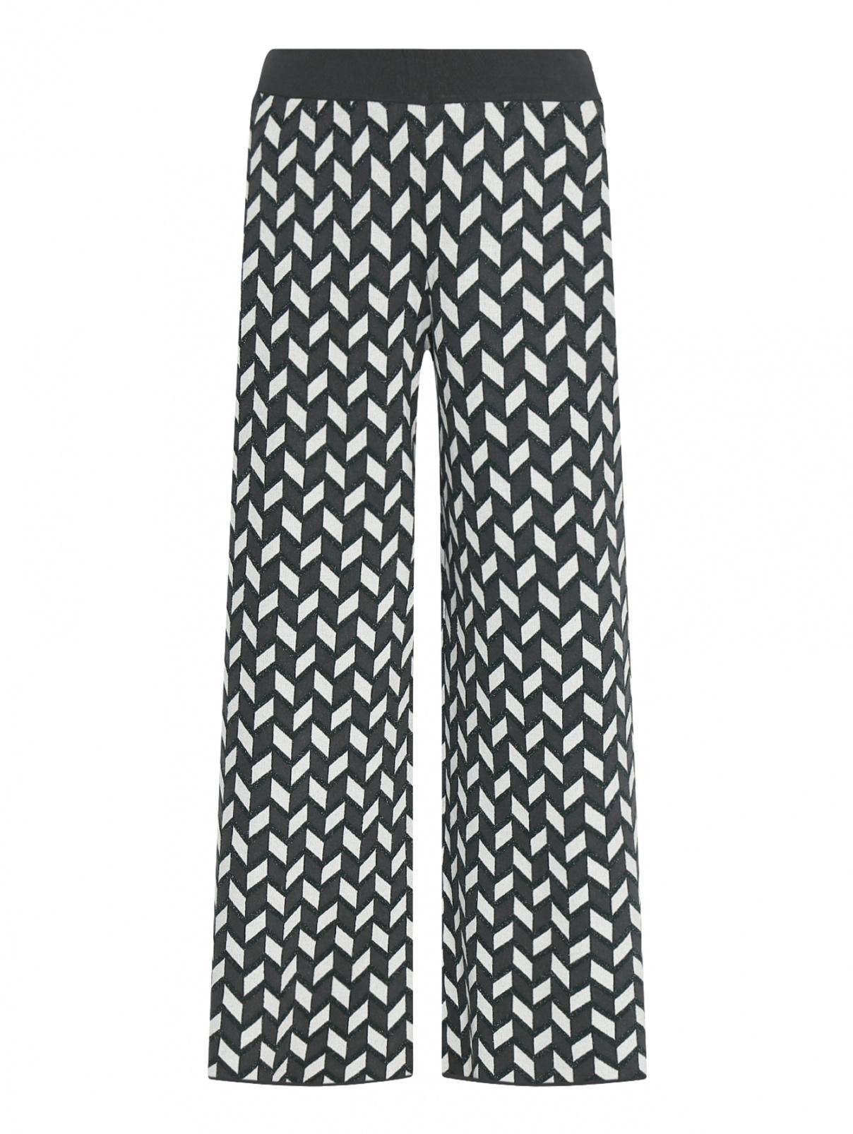 Трикотажные брюки с узором Weekend Max Mara  –  Общий вид