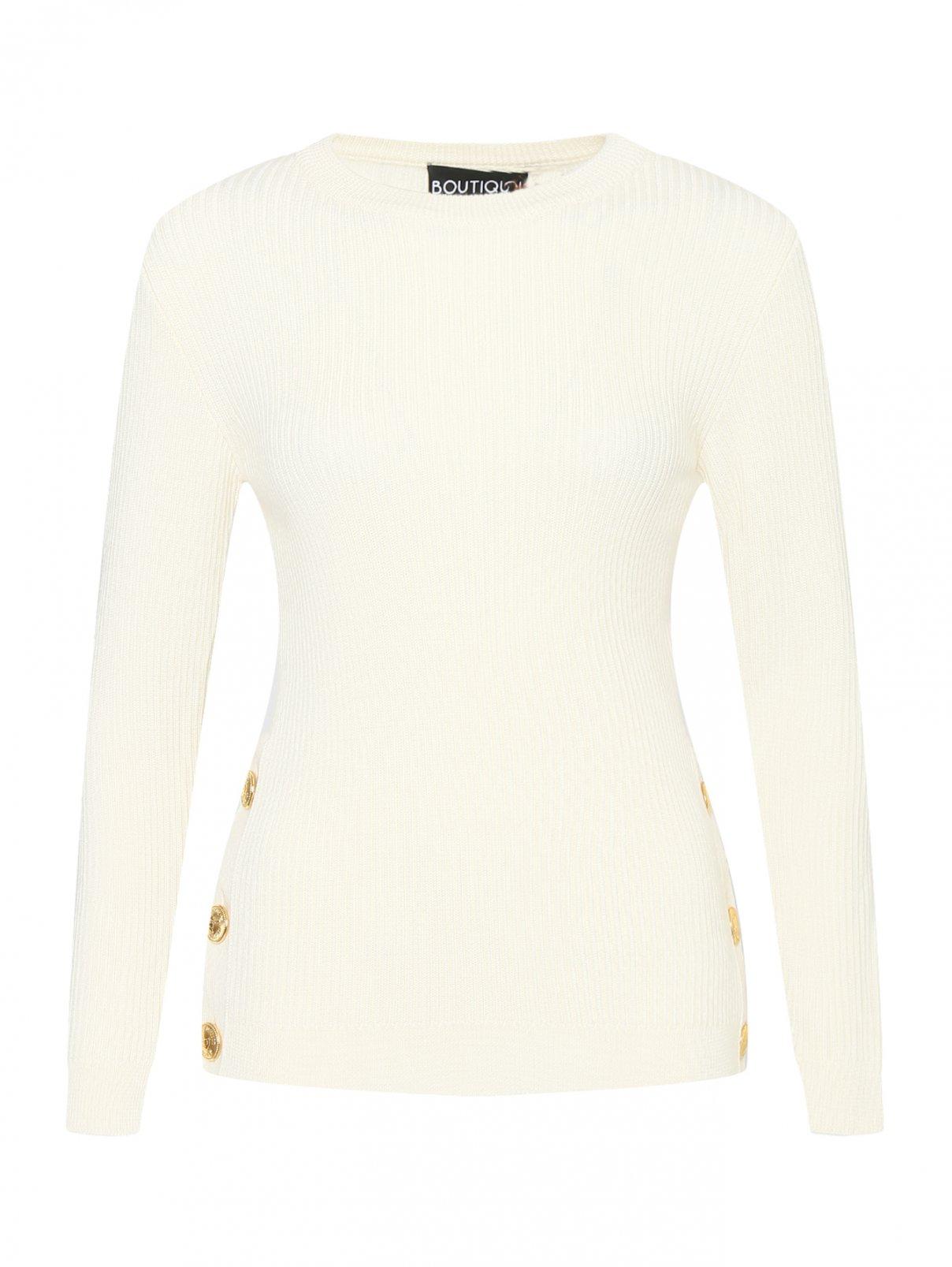 Джемпер из смесовой шерсти с металлическими пуговицами Moschino Boutique  –  Общий вид