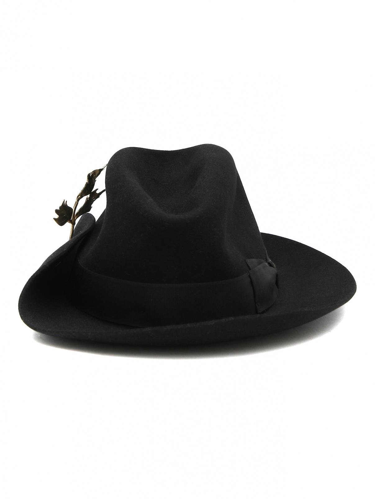 Шляпа из шерсти с декоративной деталью Borsalino  –  Общий вид