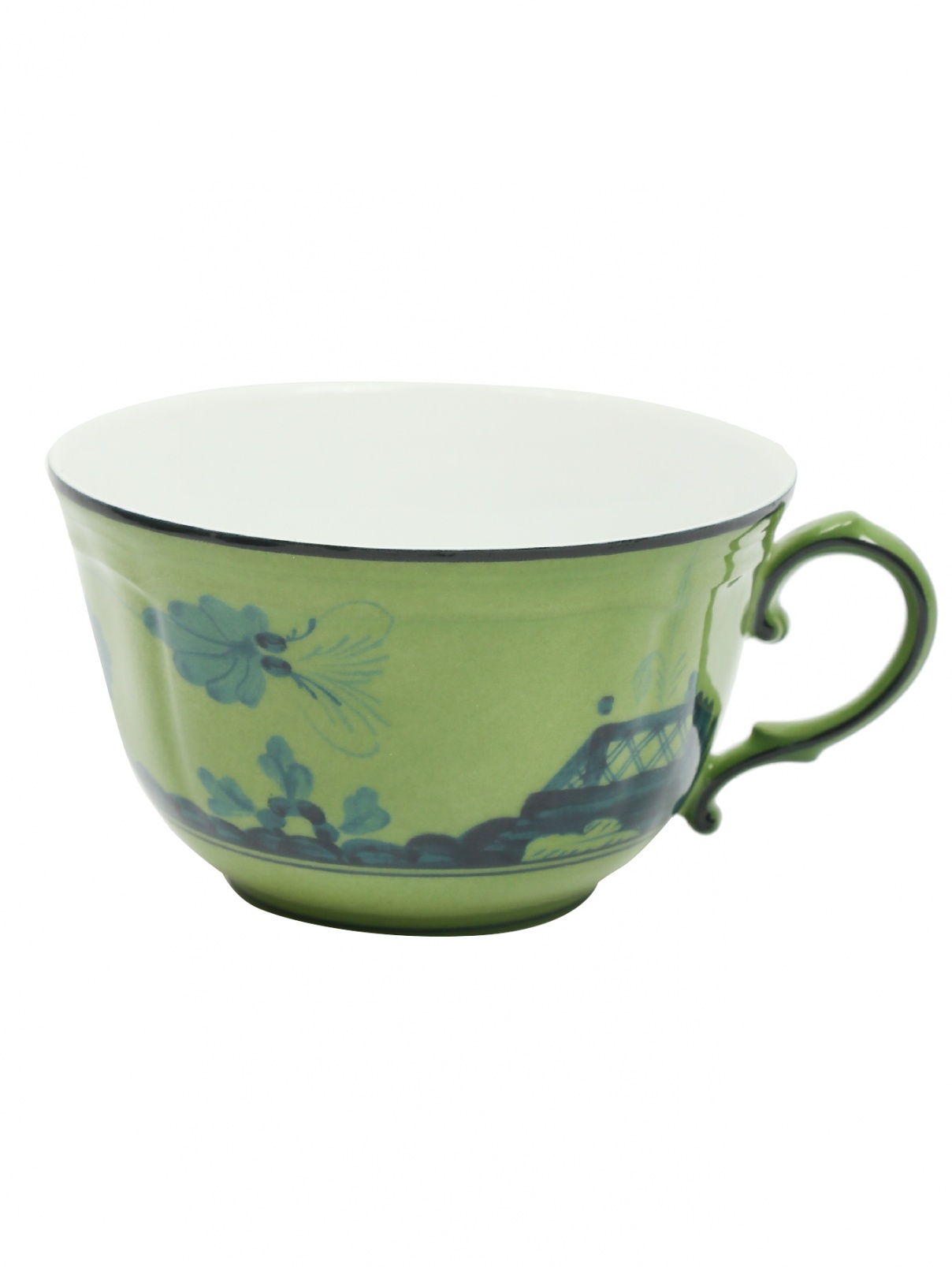 Чайная чашка из фарфора с узором и окантовкой Richard Ginori 1735  –  Общий вид