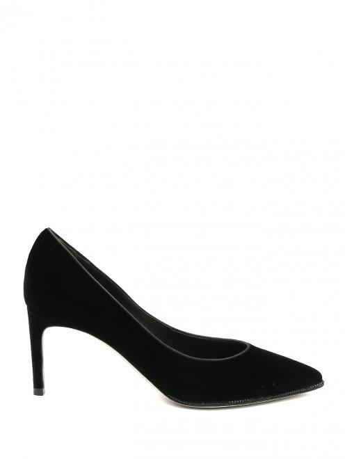 Туфли из бархата с декором из страз René Caovilla - Общий вид