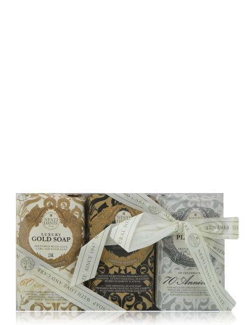 Набор мыла Юбилейное золотое+платиновое+Роскошное Rose d Arabie Nesti Dante - Общий вид
