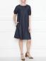 Платье из денима с декором из бисера Max Mara  –  МодельОбщийВид