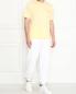 Однотонная футболка из хлопка Brooks Brothers  –  МодельОбщийВид