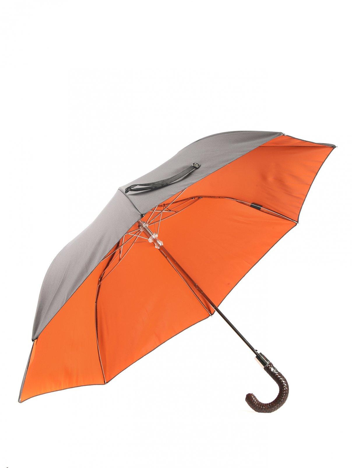 Зонт-автомат с кожаной ручкой Pasotti  –  Общий вид