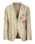 Пиджак однобортный из льна и хлопка с аппликацией Ermanno Scervino  –  Общий вид