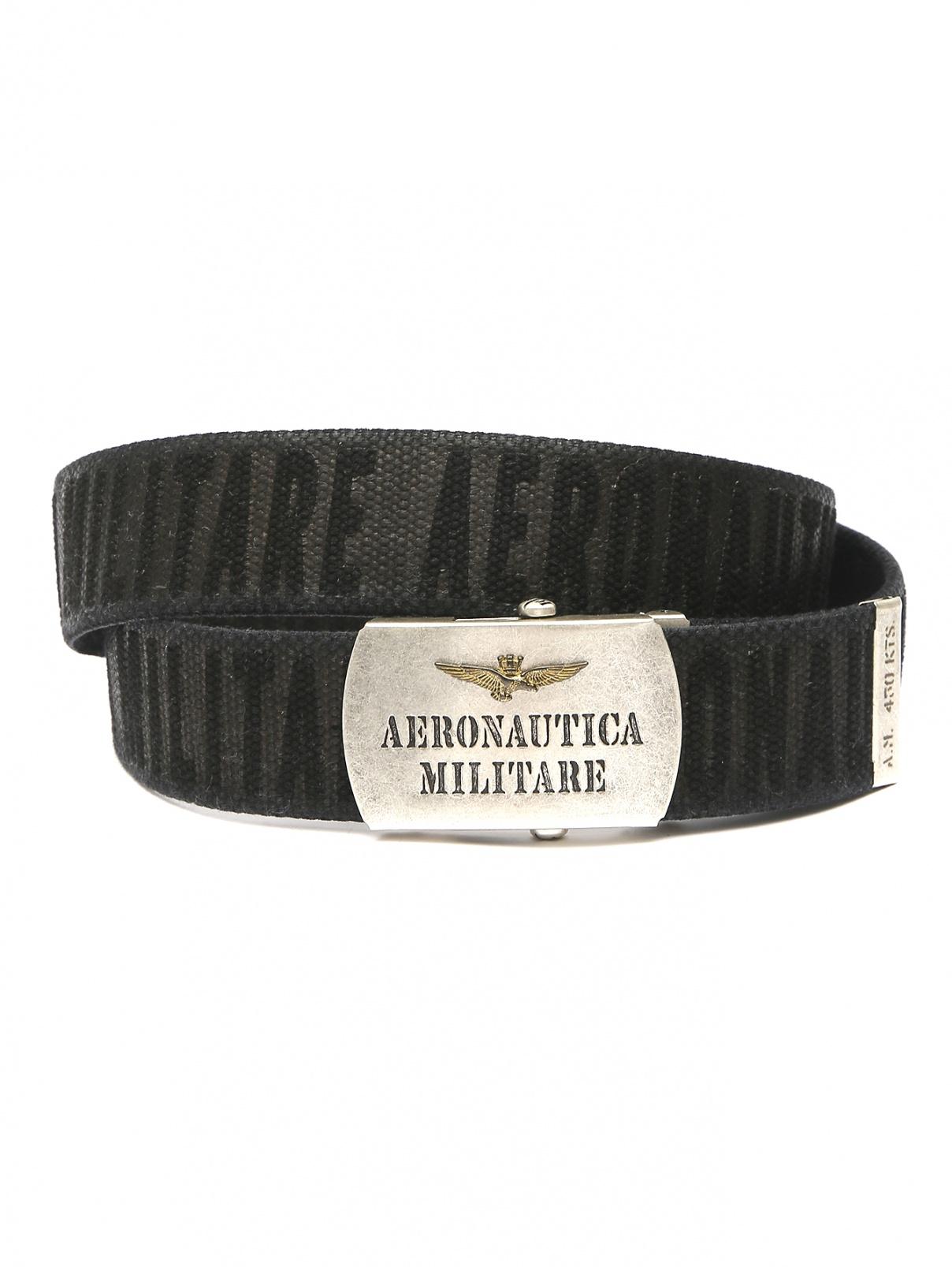 Ремень из хлопка с узором Aeronautica Militare  –  Общий вид