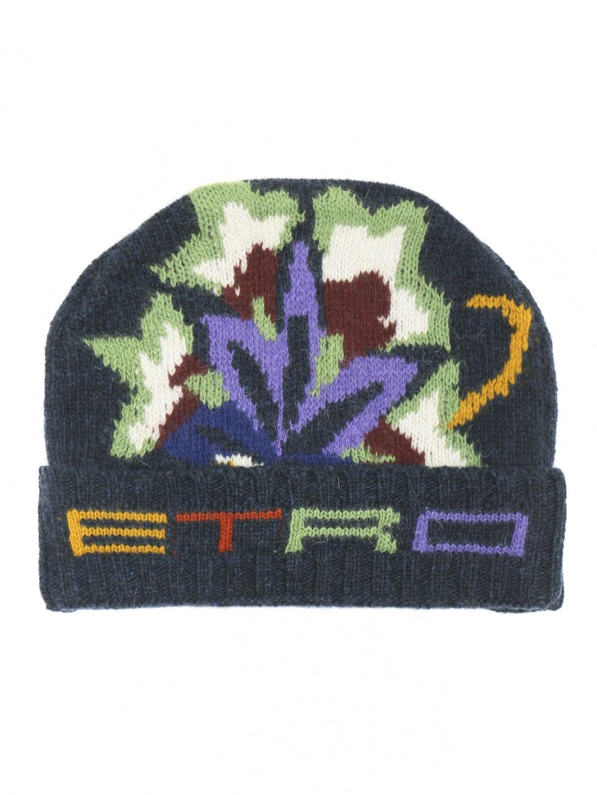 Шапка из шерсти с узором Etro  –  Общий вид