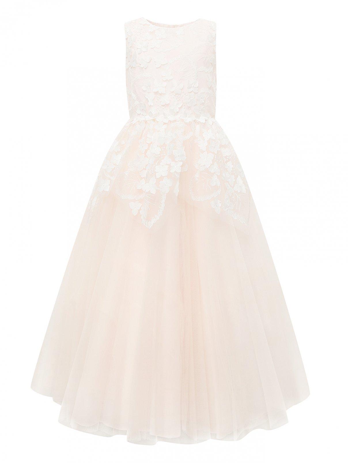 Платье с пышной юбкой и цветочным декором Aletta Couture  –  Общий вид