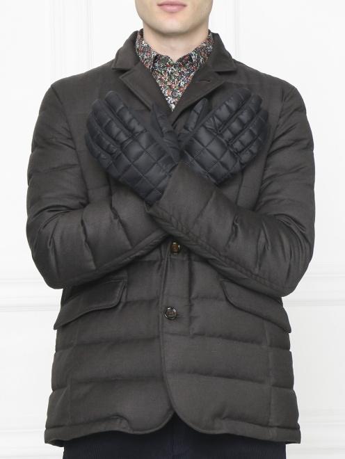 Перчатки пуховые с контрастной вставкой Canada Goose - Общий вид
