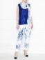 Широкий шарф с цветочным узором Marina Rinaldi  –  МодельОбщийВид