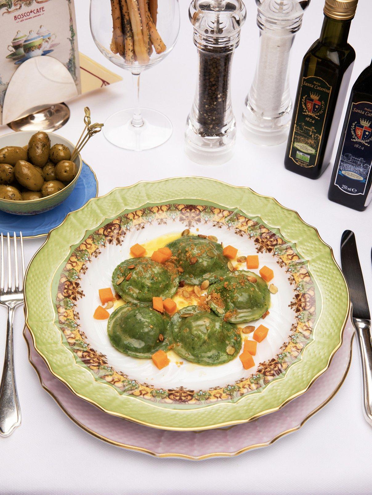 Равиоли с тыквой и пекорино романо BoscoCafe  –  Общий вид