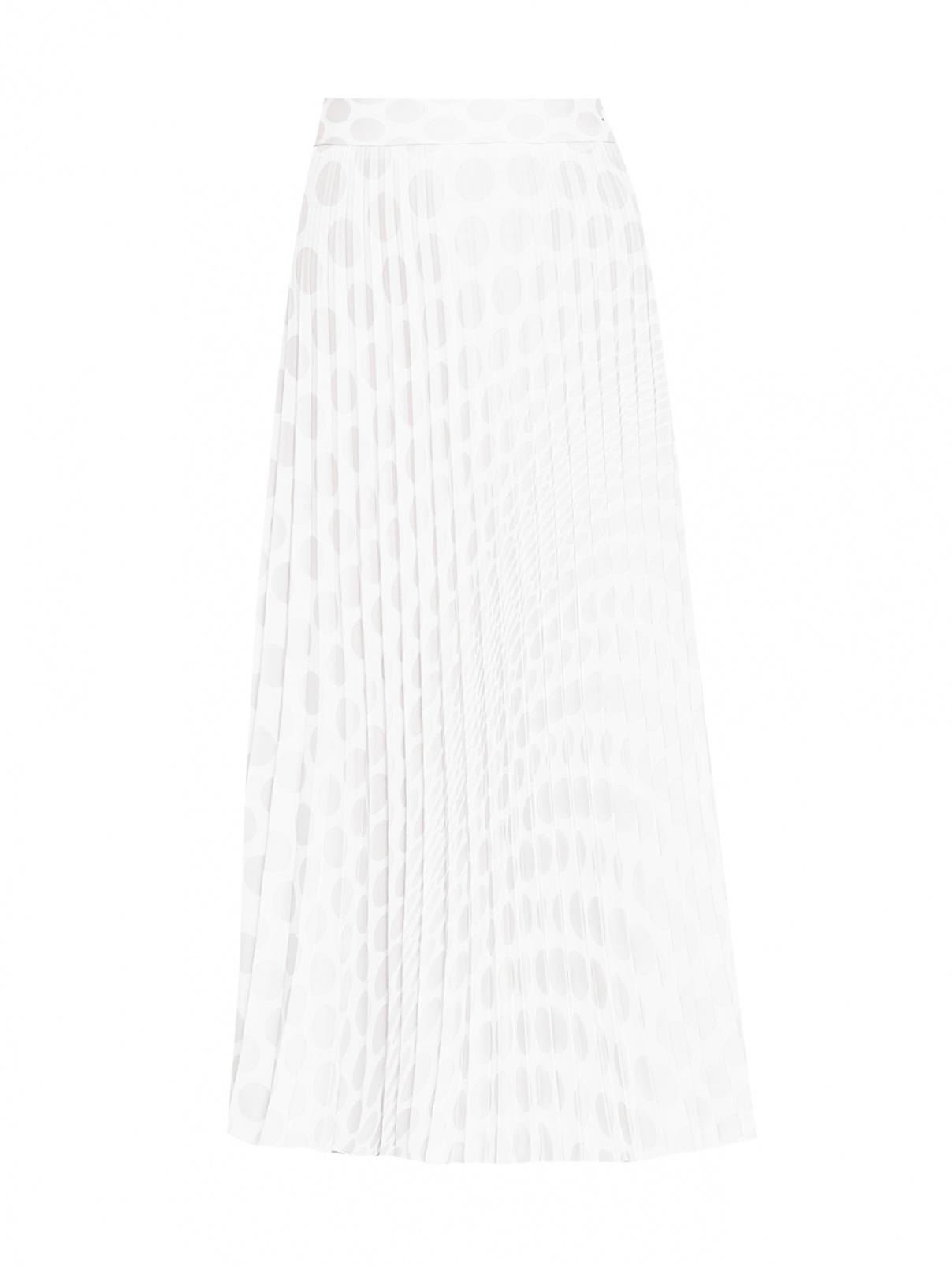 Плиссированная юбка-миди с узором MM6  –  Общий вид