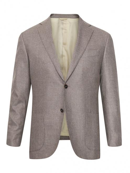 Пиджак из шелка и шерсти - Общий вид