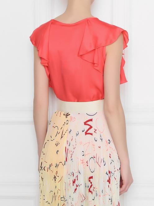 Блуза из вискозы с воланам DEHA - МодельВерхНиз1