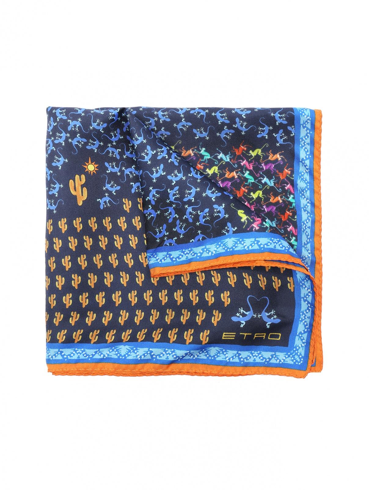 Платок из шелка с принтом Etro  –  Общий вид