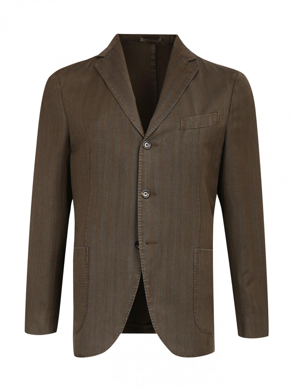 Пиджак однобортный  из шерсти Boglioli  –  Общий вид