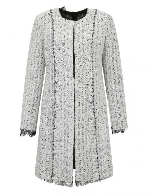 Пальто с кружевной отделкой - Общий вид