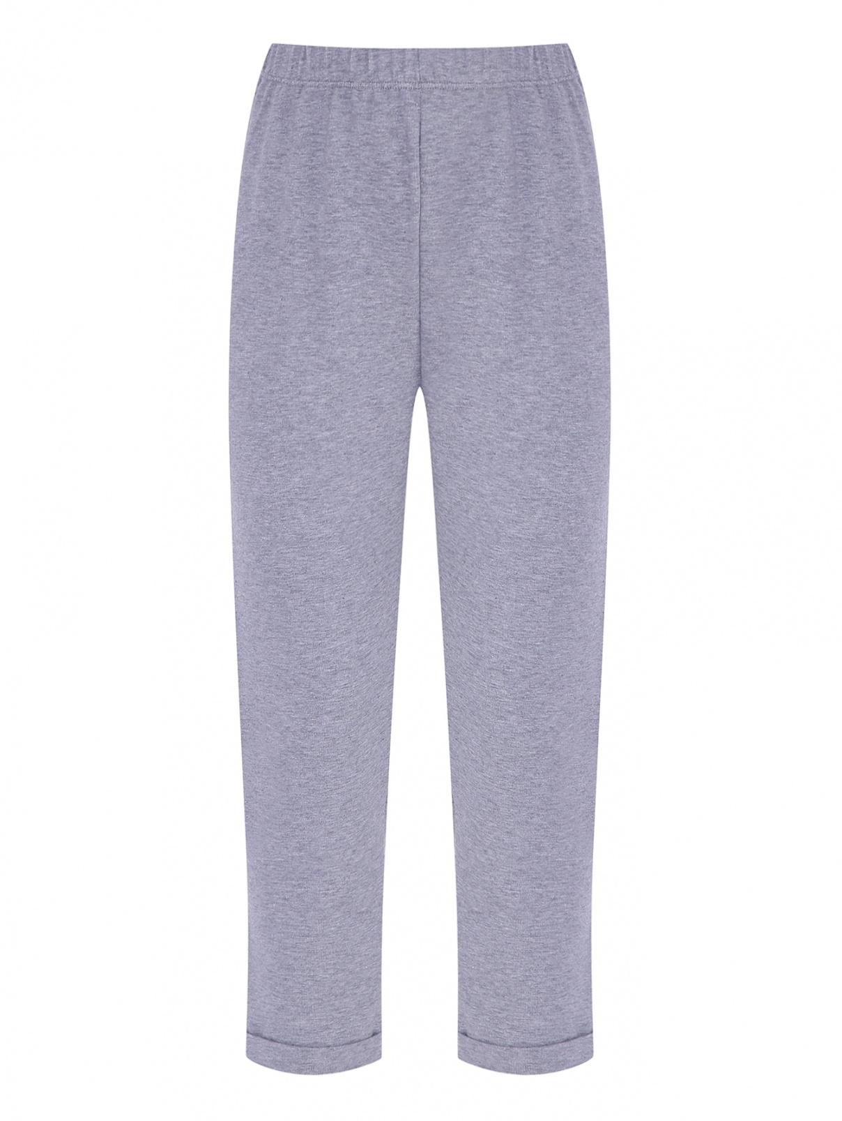 Трикотажные брюки с подворотами Il Gufo  –  Общий вид
