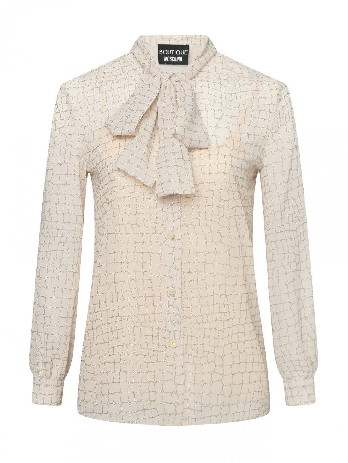 Блуза с узором Moschino Boutique  –  Общий вид